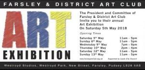 farsley art club exhibition 2018