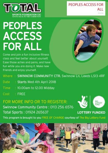 Free exercise classes start at Swinnow Community Centre