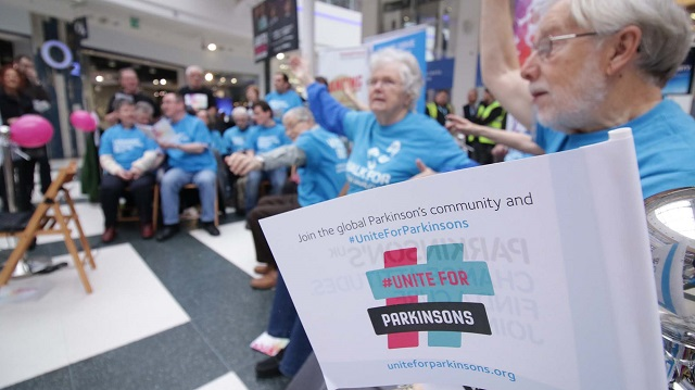 Pudsey Dancing with Parkinson's rock up 60s hits at White Rose pop up