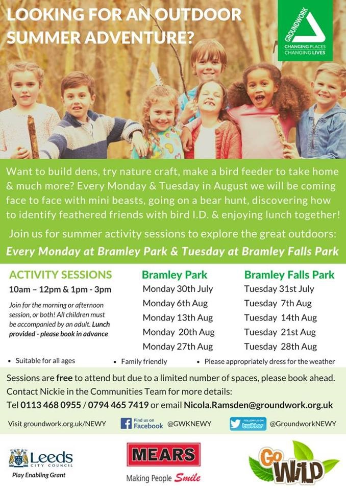 Groundwork host environmental summer activities in Bramley