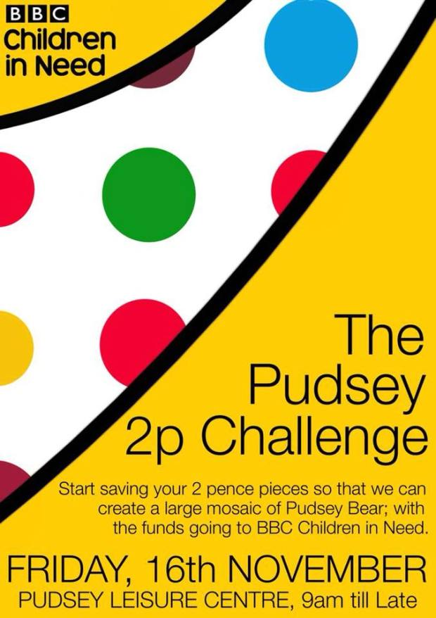 Pudsey Issues 2p Challenge For Children In Need West
