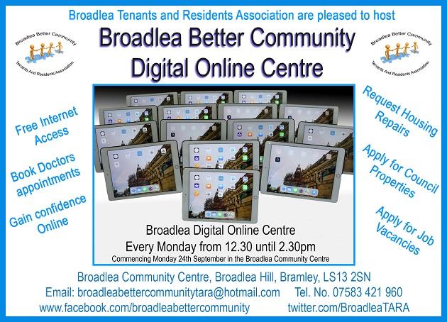 Bramley: Broadlea estate hosts first online centre