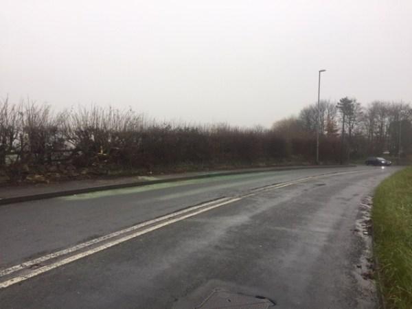 tong road crash scene