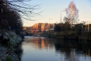 where bridge crossed river Aire