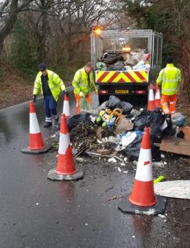 gamble lane dumped rubble