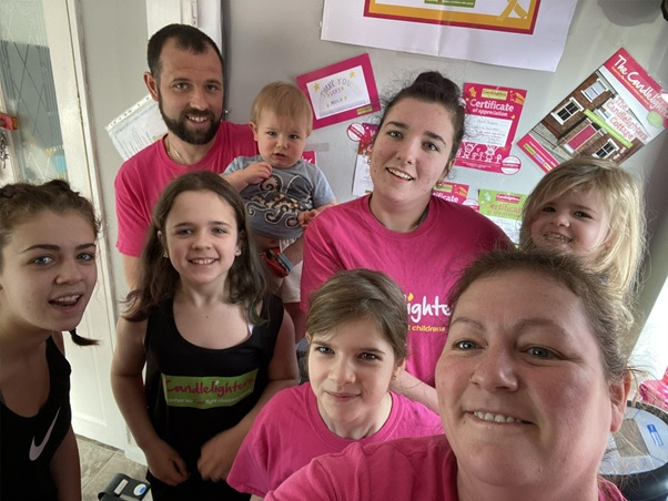 Farnley family's fab fundraising efforts for Candlelighters