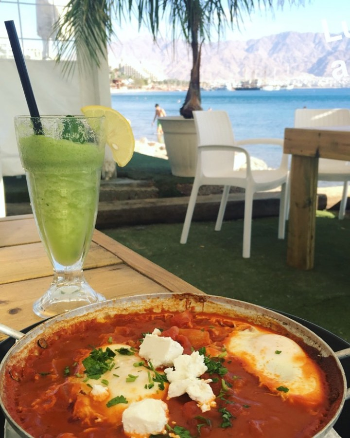 shakshouka on the beach