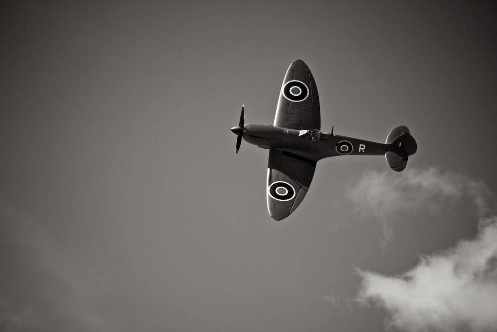 Supermarine Spitfire with Merlin in flight
