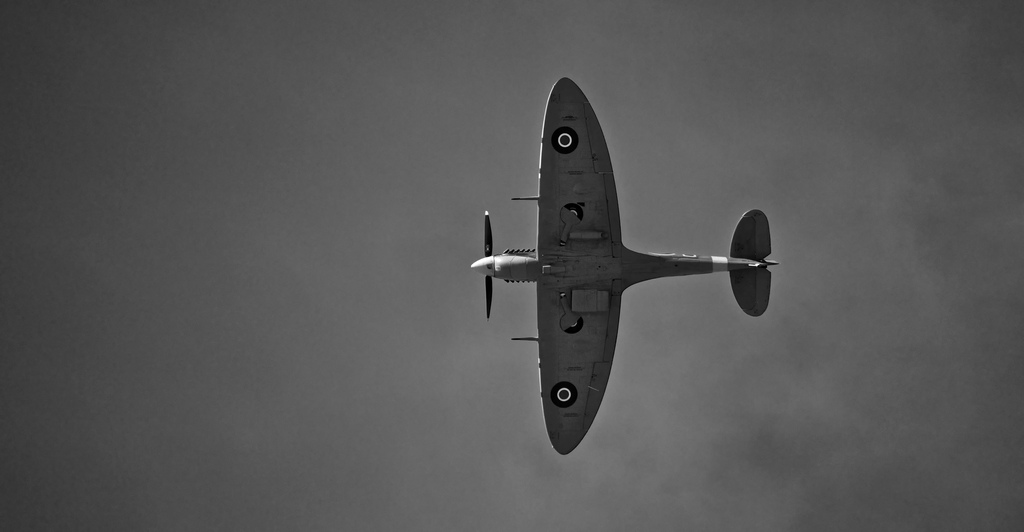 Supermarine Spitfire on flight