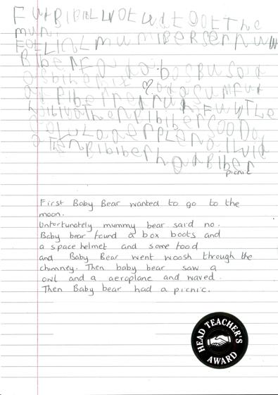 EYFS 2 Baby Bear Handwritten