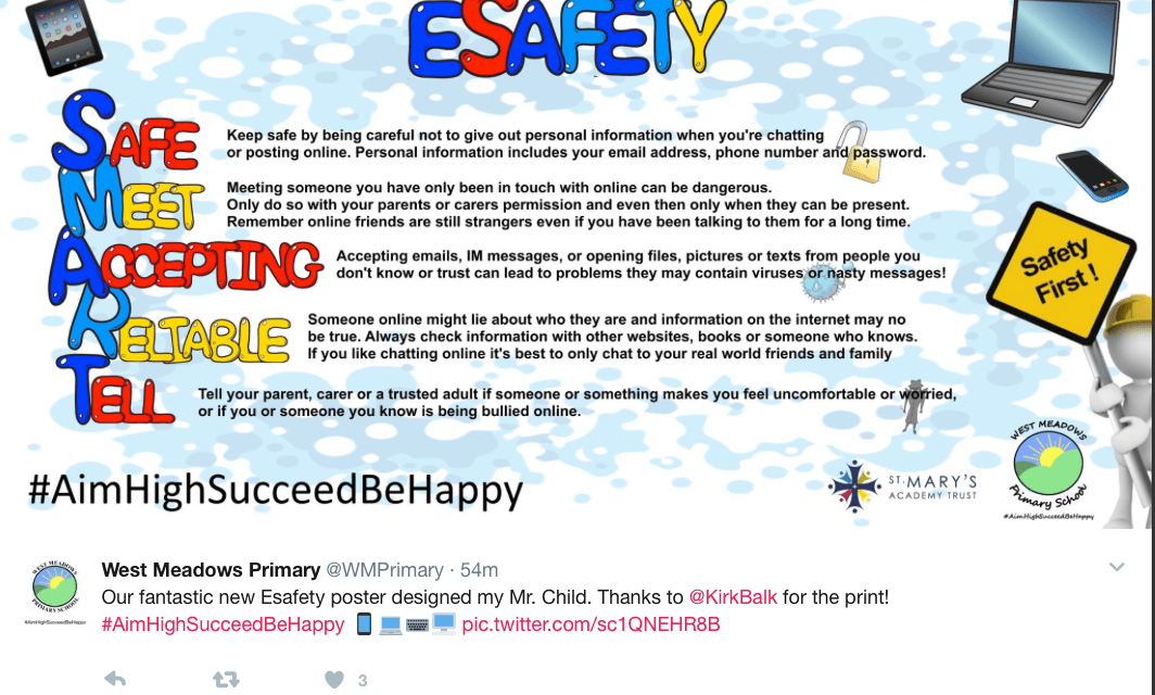 Our fantastic new eSafety poster…