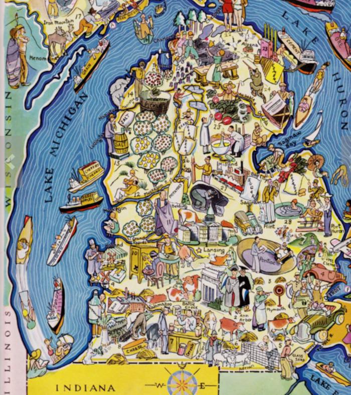 Fun map of Michigan.