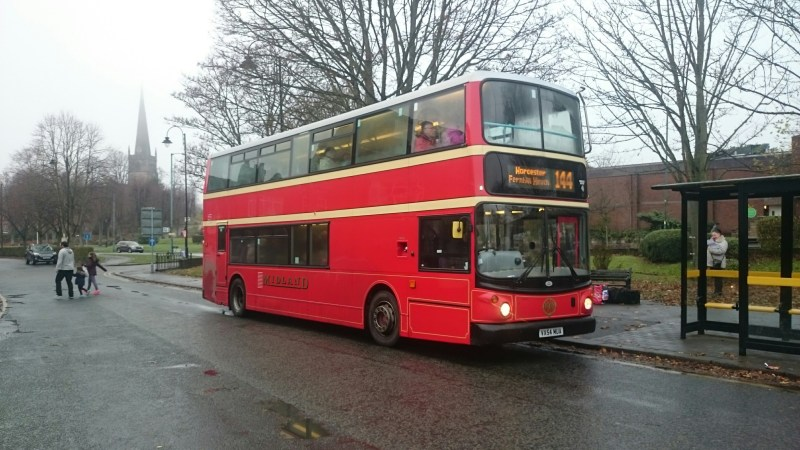 Routes extending far out from the West Midlands – 144 Birmingham to Worcester