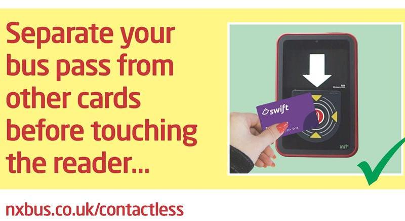 Contactless payment now available on all NX buses in the West Midlands