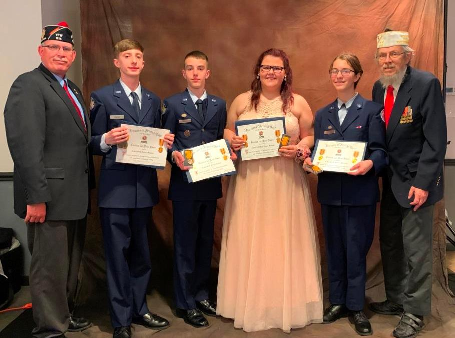 West Mifflin VFW Post Awards Four At Air Force JROTC April 5 Banquet  – Community Support Credited For 15 Years Of Solid Success