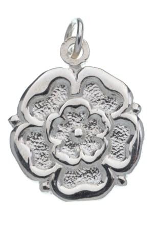 Silver Tudor Rose Charm