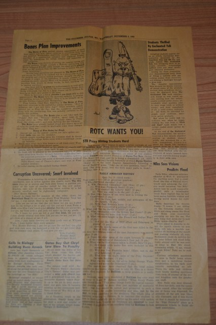 """The back-side of """"The Columnsh"""" published in Nov. 1955. Click on the picture, scroll down, and click """"View Full Size 3072 x 4608"""" on the bottom right to view full sized picture. PROPERTY OF WILLIAM WHITLOW"""