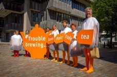 Teapot etc outside QE2 centre