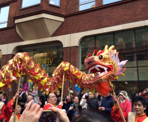 The Dragon Parade 2015 in Trafalgar Square Credits: Jipsa George