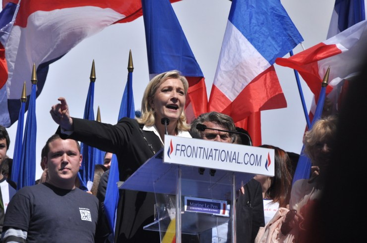 Marine Le Pen's Front National neared to win a region for the first time in its history. Credit to Blandine Le Cain