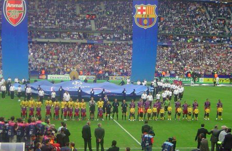 Barcelona and Arsenal met each other in the 2006 Champions League final Picture: siarach (Cropped & modified by Qwghlm)