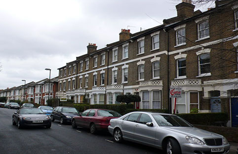 Houses in Haringey, north London (picture courtesy of Nigel Mykura)