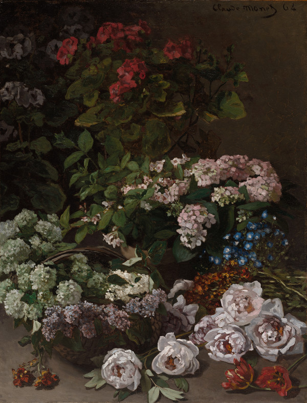Spring Flowers by Monet, 1864. Provided by the Royal Academy of Arts