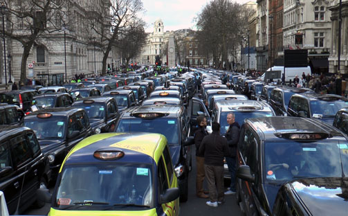 London Cabs Protest 2016