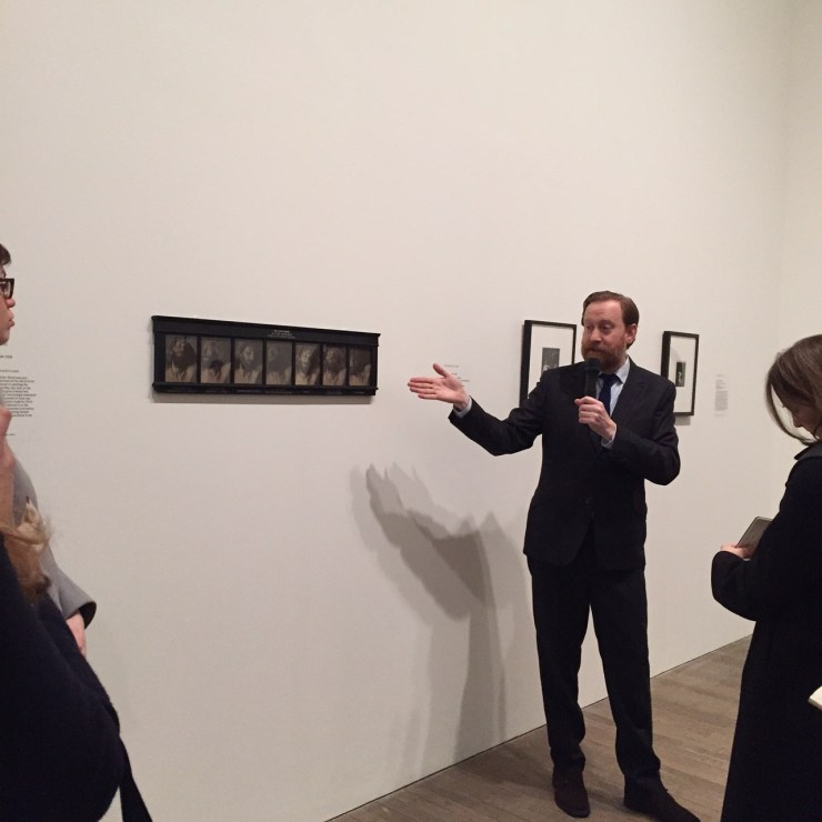 Simon Baker during the curator's tour. Image by Catherine McMaster