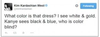 Kim dress tweet