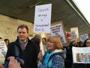 Demonstrators also included Londoners other than Hampstead mothers