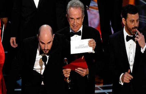 Social media stampede following blunder for Best Picture at Oscars