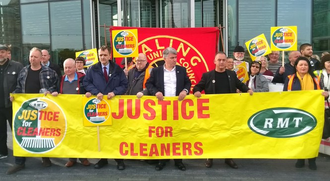 Cleaners disrupt the Mayor's Question Time