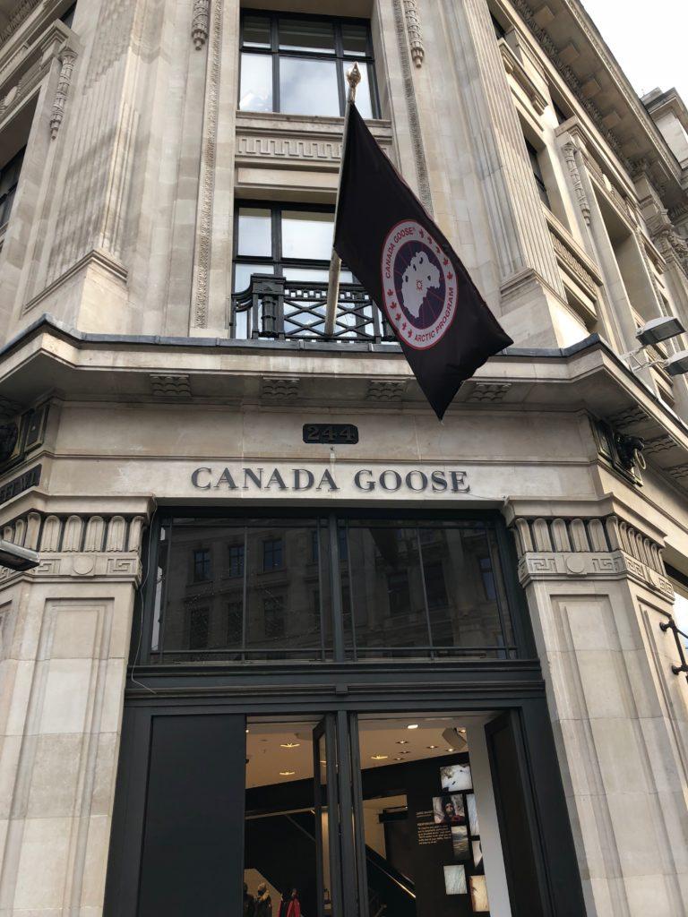 canada goose store regent street