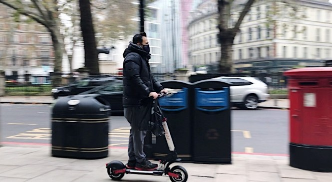 Londoners embrace e-scooters as rental trials are under way