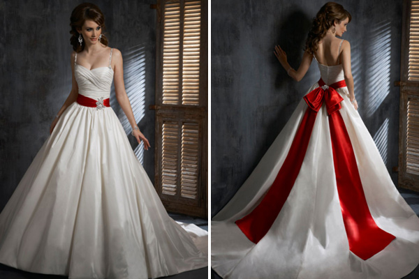 Creative Ways To Have Pops Of Color In Your Wedding Dress