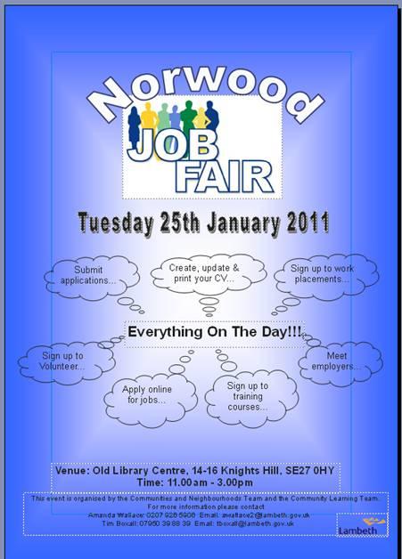 norwood jobs fair