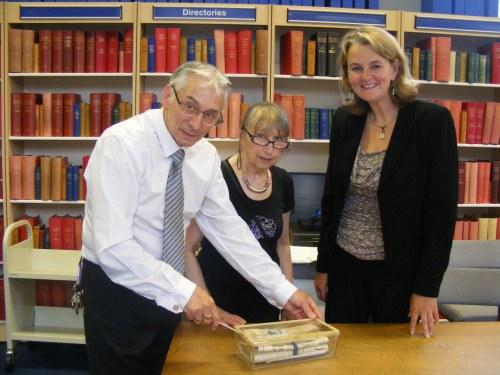 Tony Seager, Priscilla Seager and Lib Peck