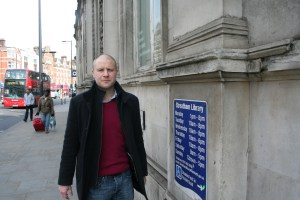 Cllr Mike Smith at Streatham Library