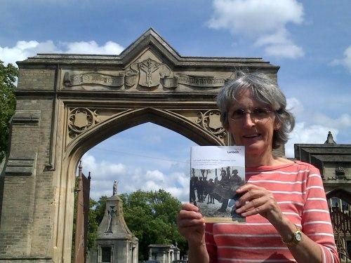 Jackie Meldrum with Heritage Festival booklet