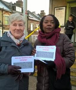 Cllrs Jane Pickard & Sonia Winifred campaigning