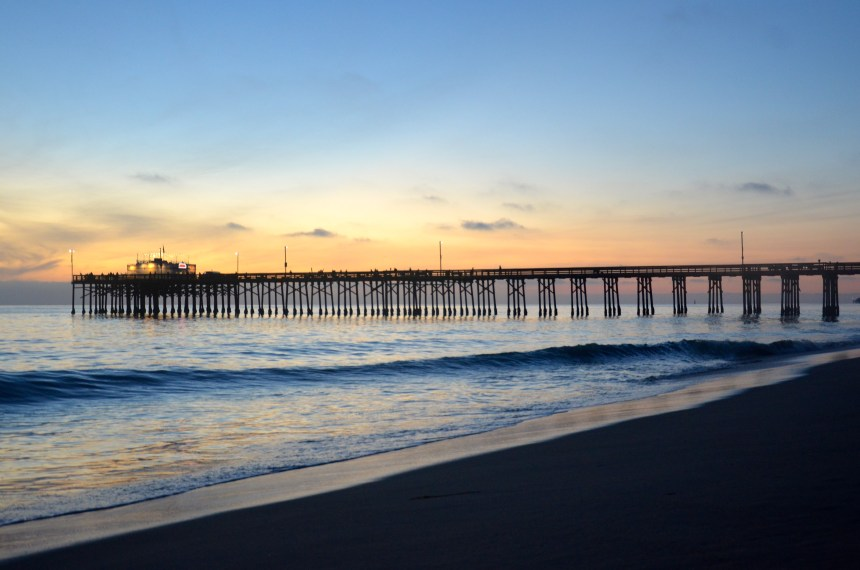 Balboa Pier Sunset Newport Beach