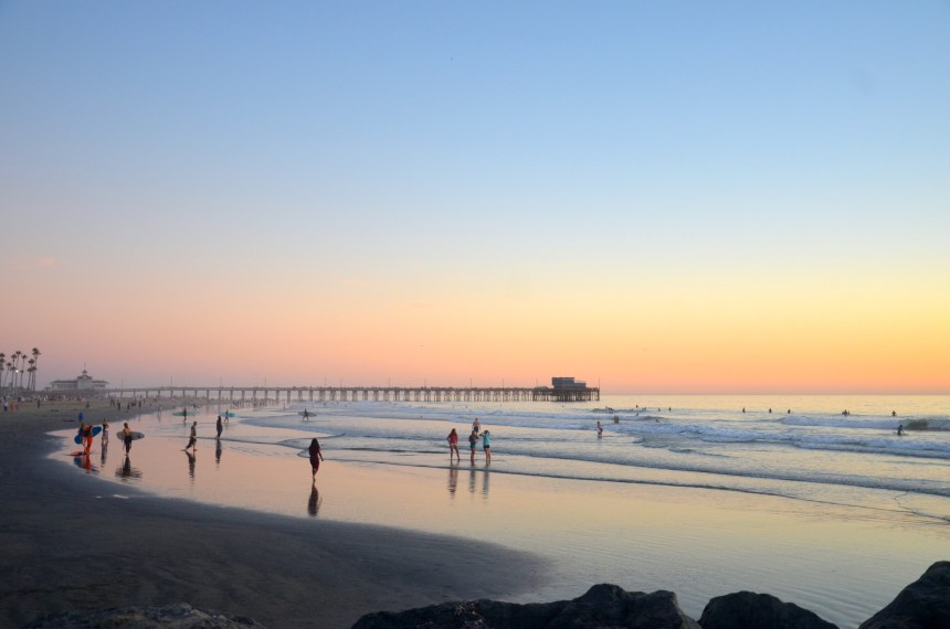Newport Pier Balboa Peninsula sunset