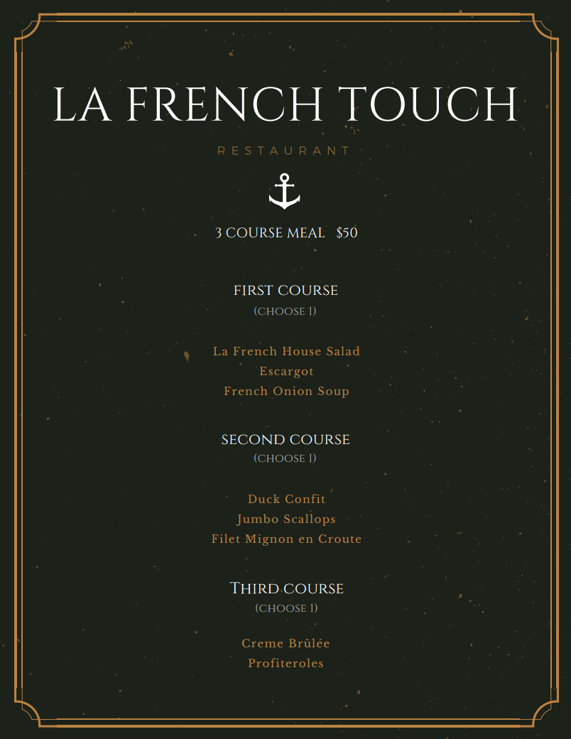 La French Touch Newport Beach