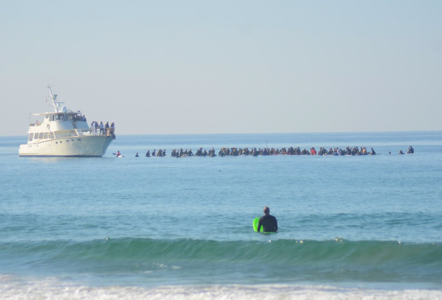 Newport Beach Paddle Out Joseph Anthony Pena