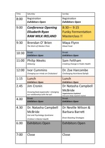 Wise Traditions Ireland (2017) programme.