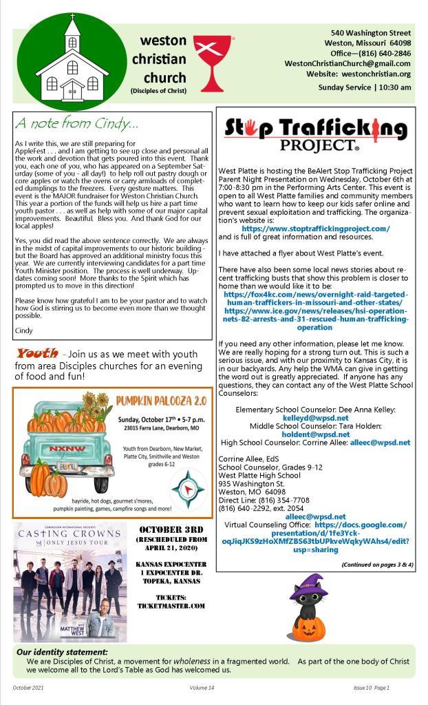 WCC - October 2021 Newsletter-website-pg 1