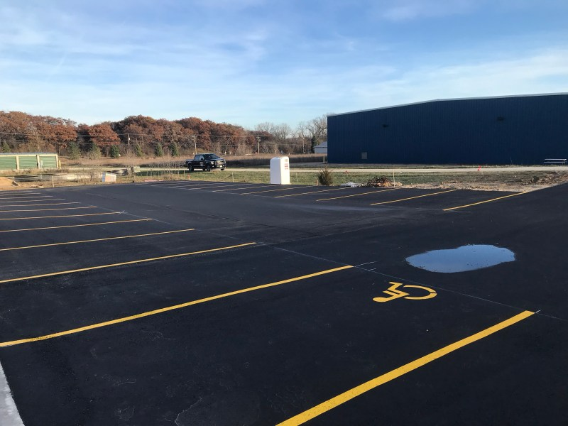 Installation of concrete and the parking lot - Westosha Sports Complex