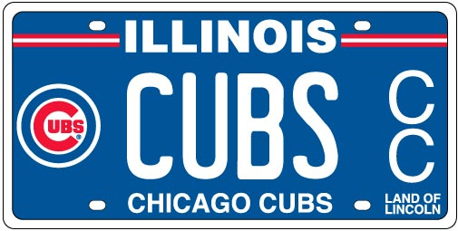 Chicago Cubs License Plates