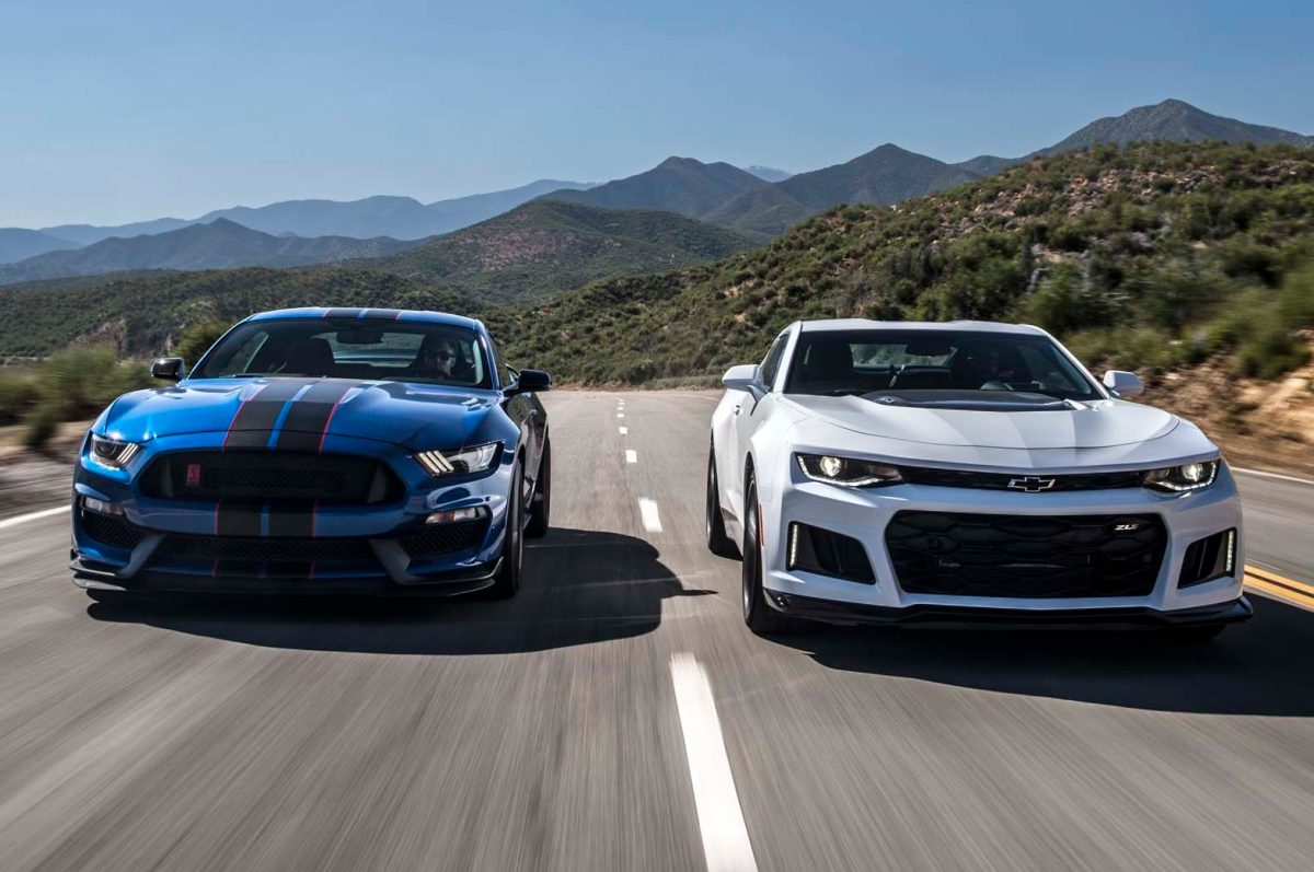 2017 Chevrolet Camaro ZL1 vs. 2017 Ford Mustang Shelby GT350R: The Forever War – Motor Trend